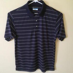 PGA Tour Blue-White Golf Polo